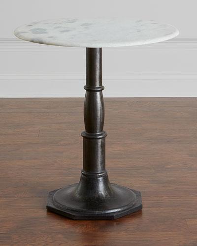 Zenda Marble-Top Side Table