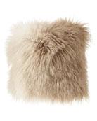 Michael Aram Dip Dye Curly Sheepskin Pillow