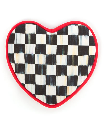 Courtly Check Heart Pot Holder