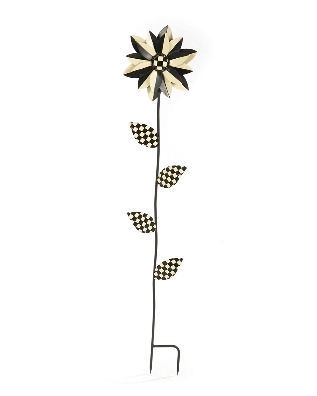 Flower Stake, Black/White
