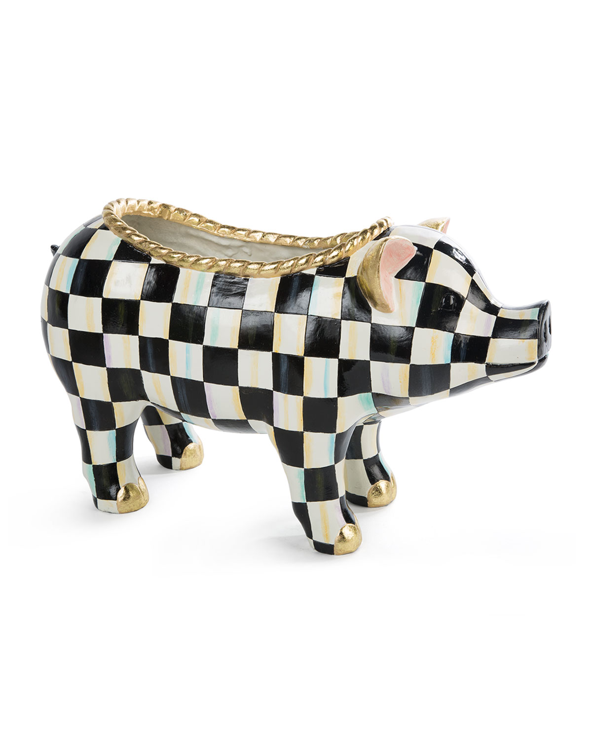 Courtly Check Pig