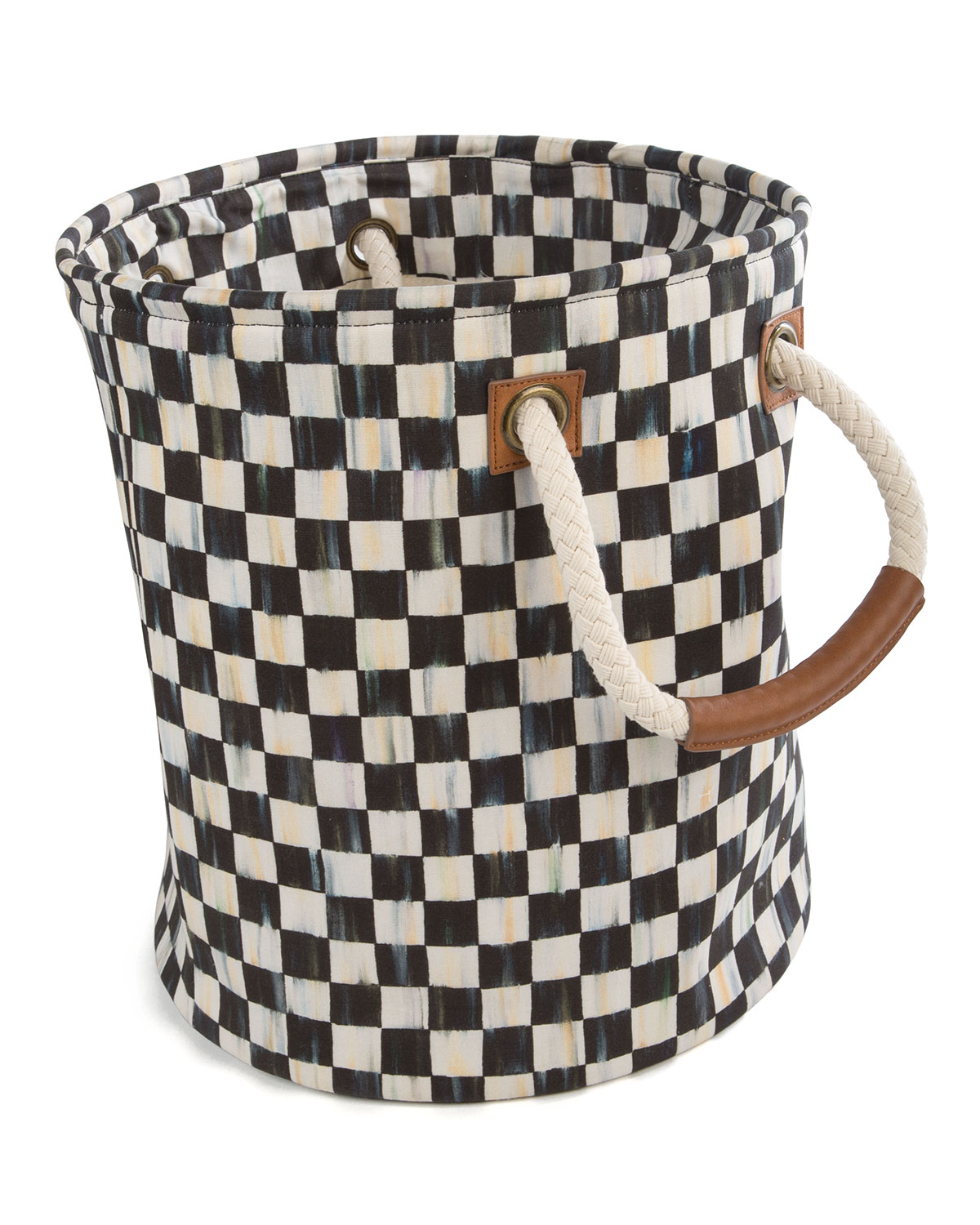 Mackenzie-Childs Totes COURTLY CHECK SMALL STORAGE TOTE