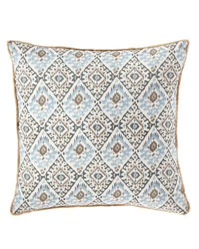 Tipton Sea Glass Pillow with Brush Fringe
