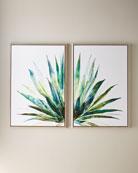 "Verde Agave Wall Art, 30"" x 45"""