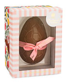 Pink Chocolate Egg with Marc de Champagne Easter Truffles