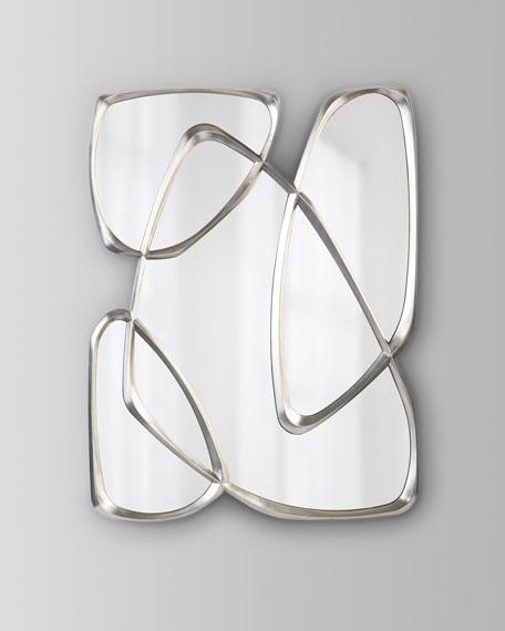 John-Richard Collection Zeta Mirror in Pewter