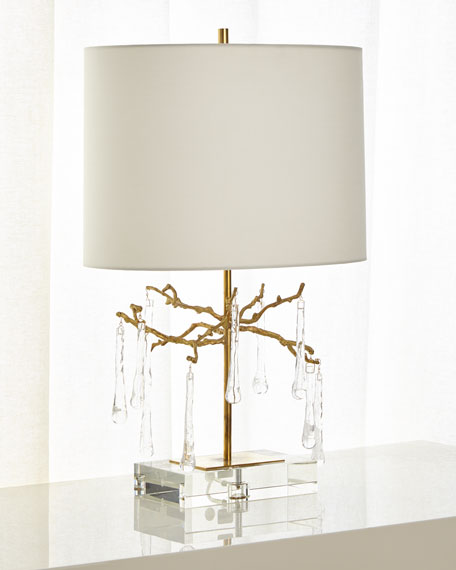 John-Richard Collection Branched Crystal Table Lamp