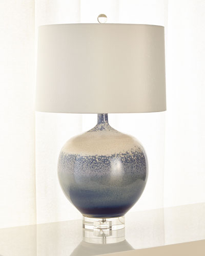 Sea and Surf Porcelain Lamp