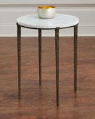 Serra Marble-Top Side Table