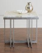 Thiago Onyx-Top Side Table