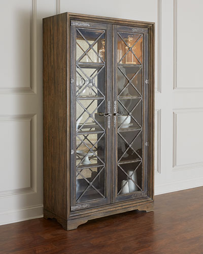 Casella Lighted Curio Cabinet