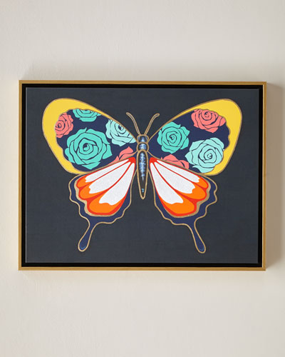 Luxe Butterfly II Wall Art, 24