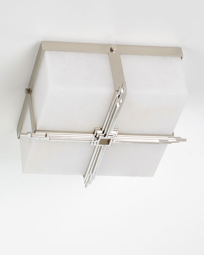 Gotham Polished Nickel Flush Mount Ceiling Light