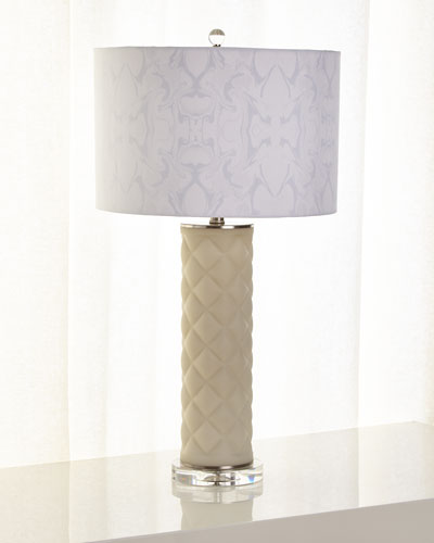 Lenora Quilted Glass Table Lamp