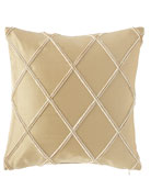 "Laurel Silk Pillow, 17""Sq."