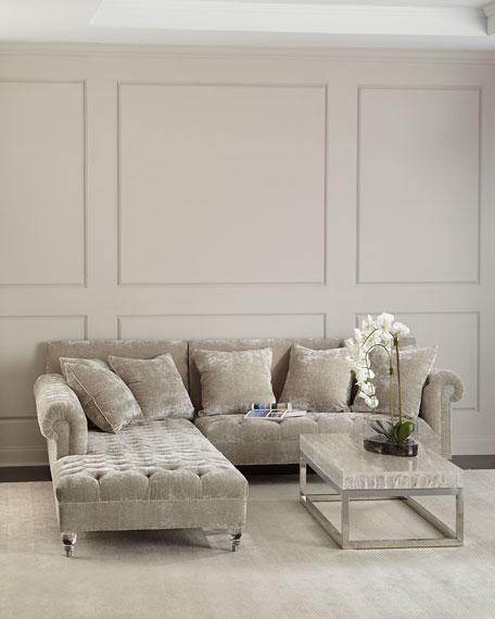 Haute House Divine Crushed Velvet Left-Chaise Sectional