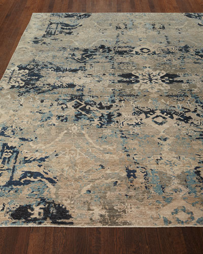 Zaffre Hand-Knotted Runner, 2'6