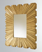 Global Views Linen Fold Brass Mirror