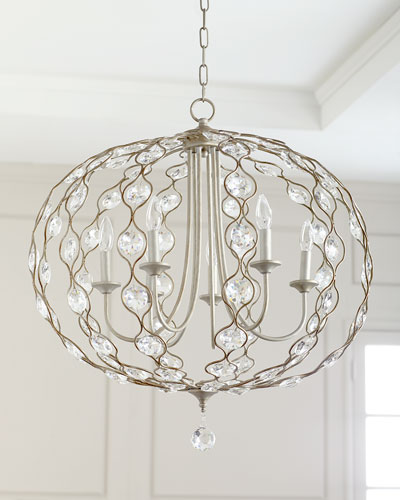 6-Light Crystal Pendant Chandelier