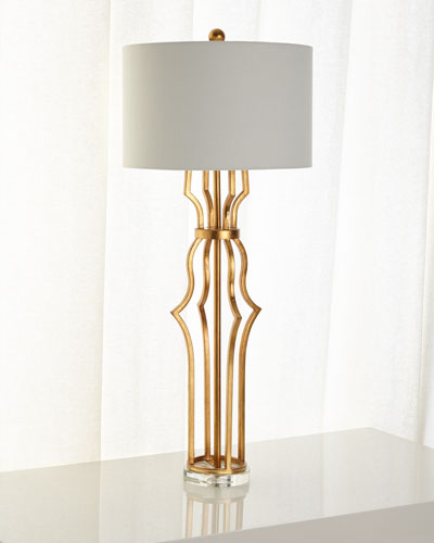 Aged Gold Metal Erin Buffet Lamp