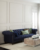 """Kniles Tufted Seat Chesterfield Sofa - 94"""""""