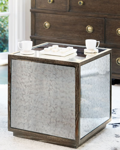 Clarendon Mirrored End Table