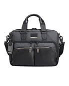 Albany Slim Compartment Briefcase, Gray