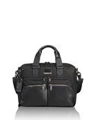 Albany Slim Compartment Briefcase, Black
