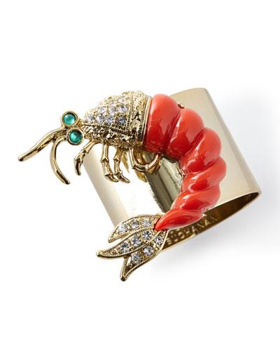 Shrimp Napkin Rings, Set of 2