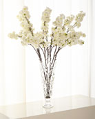 Cherry Blossom Florals in Glass Vase