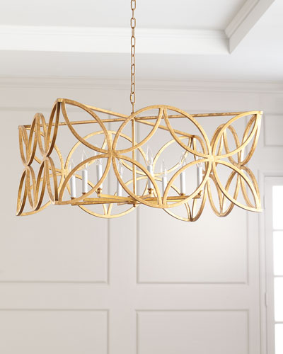 b3c0b63be5ee McCarty Gold Leaf Chandelier