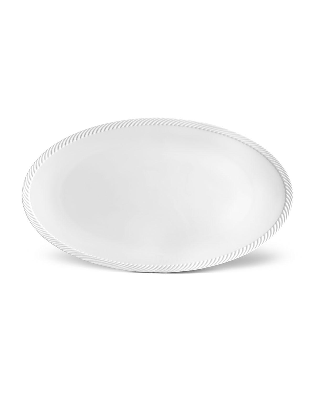 L'objet Servewares CORDE LARGE OVAL PLATTER, WHITE