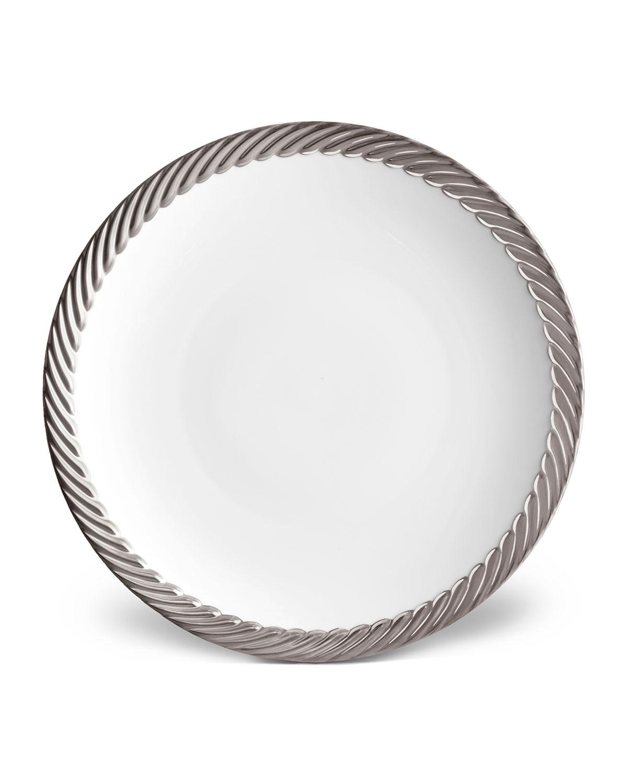 L'objet CORDE DINNER PLATE, WHITE/SILVER