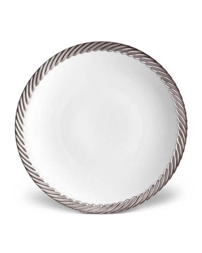 Corde Salad/Dessert Plate, White/Silver