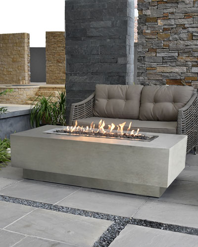 Granville Outdoor Fire Table with Natural Gas Assembly