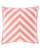 "Stratford Stripe Pillow, 22""Sq."