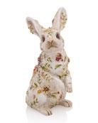 """""""Sunny"""" Floral Bunny Figurine"""