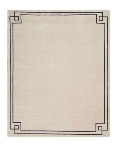 Finesse Mediterranean Sand Hand-Knotted Rug, 8' x 10'