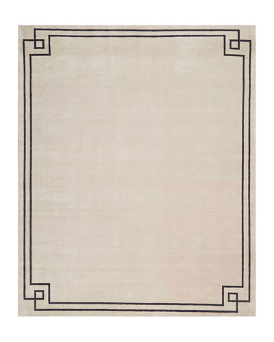 Finesse Mediterranean Sand Hand-Knotted Rug, 9' x 12'