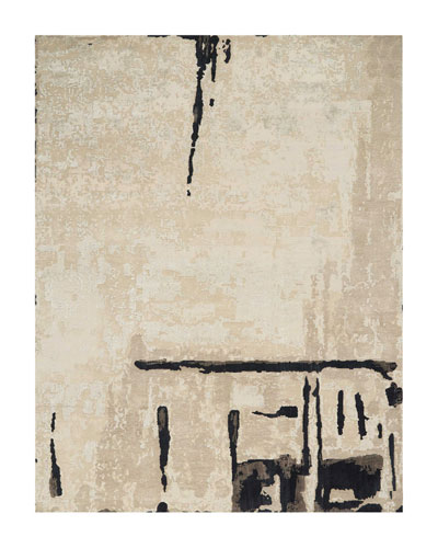 Abstrait Sea Sand Hand-Knotted Rug, 9' x 12'