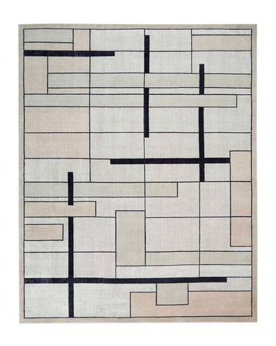 Avenue Silvery Moon Hand-Knotted Rug, 9' x 12'