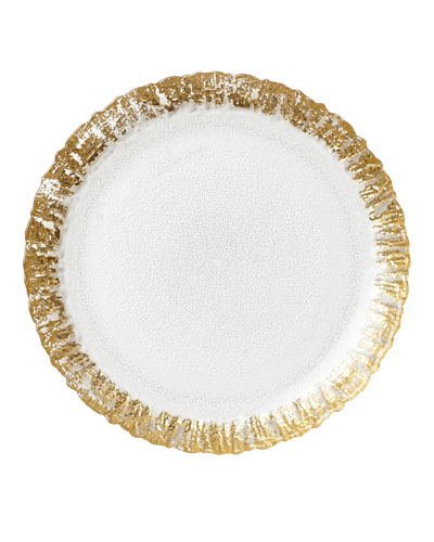 Rufolo Glass Salad Plate, Gold