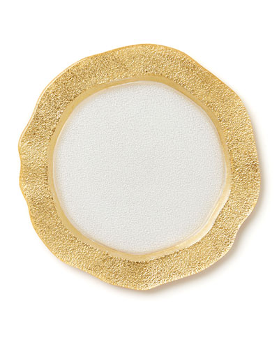 Rufolo Glass Organic Salad Plate, Gold