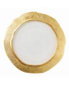 Rufolo Glass Organic Charger, Gold