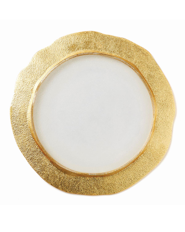 Vietri Clothing RUFOLO GLASS ORGANIC CHARGER, GOLD