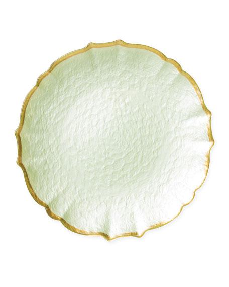 Vietri Pastel Glass Service Plate/Charger, Pistachio