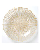 Rufolo Glass Large Serving Bowl, Gold