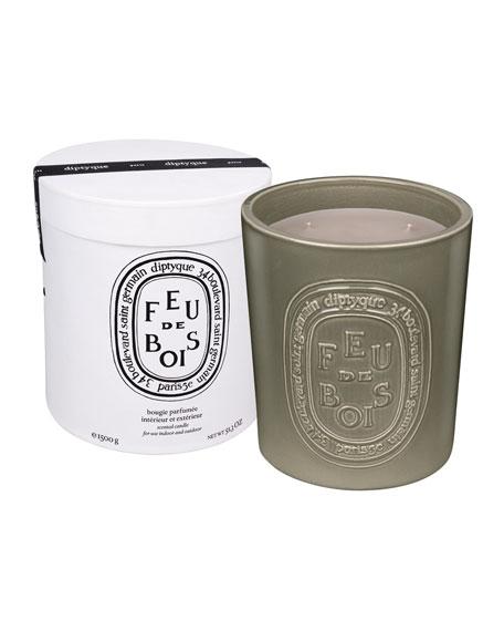 Diptyque 51.3 oz. Ceramic Feu de Bois Scented Candle