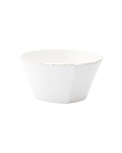 Lastra Stacking Cereal Bowl, White