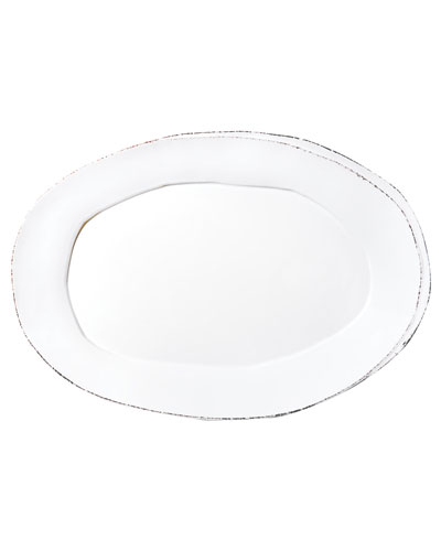 Lastra Oval Platter, White
